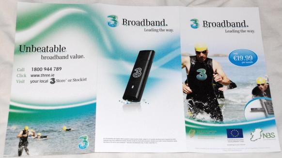 3 Broadband leaflet (front/back)